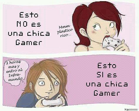 Chica gamer y una imagen erronea