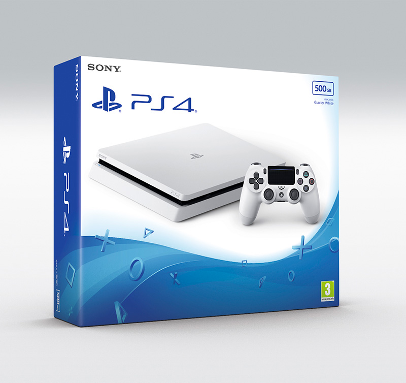 "Sony presenta la PlayStation 4 ""Glacier White"""