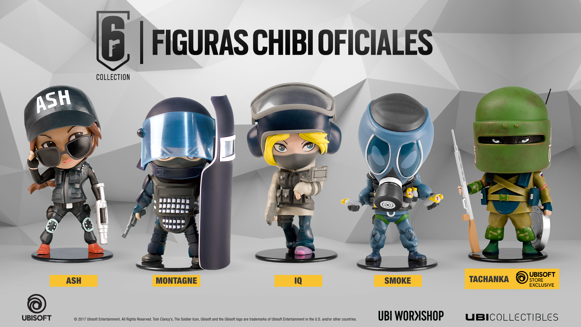 Ya puedes reservar las figuras de la SIX Collection Chibi #RainbowSixSiege