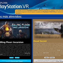Explora PlayStation VR – Mayo 2018