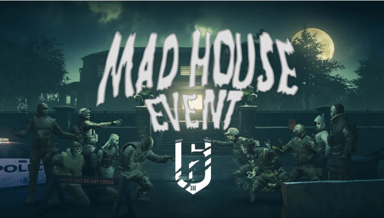 """Segundo evento del Año 3 de Rainbow Six Siege: el evento de Halloween """"Casa de Locos""""."""