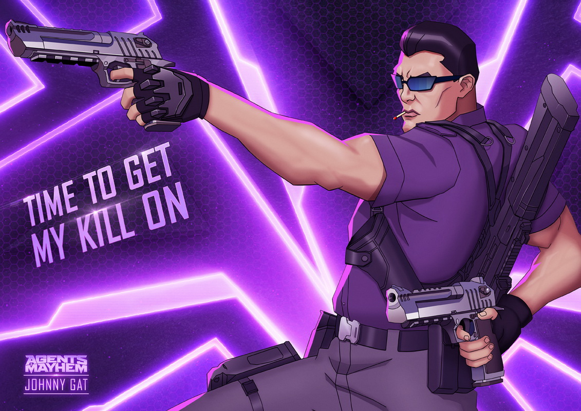 Johnny Gat sera será el decimotercer Agente disponible  de Agents of Mayhem